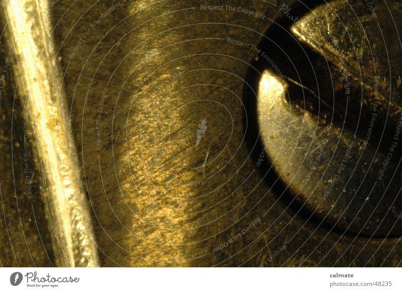 - schlitzschraube - zerborsten Chrom Licht Ecke Metall Reflexion & Spiegelung Schlitzschraube Schatten Makroaufnahme Schere Rost Fleck