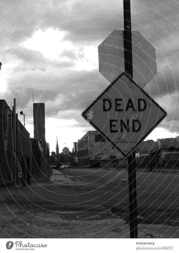 Dead End Sackgasse Schilder & Markierungen Straße dead end