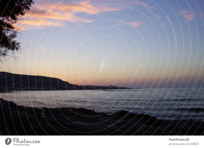 Am Meer Sonnenuntergang Natur