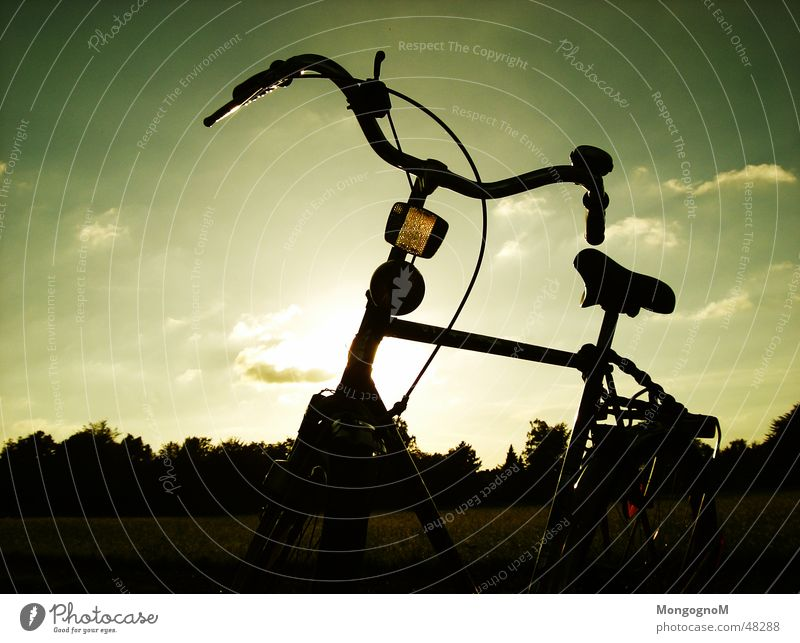 Radtour || Fahrrad Fahrradtour Fahrradlicht Feld Fahrradsattel Fahrradlenker