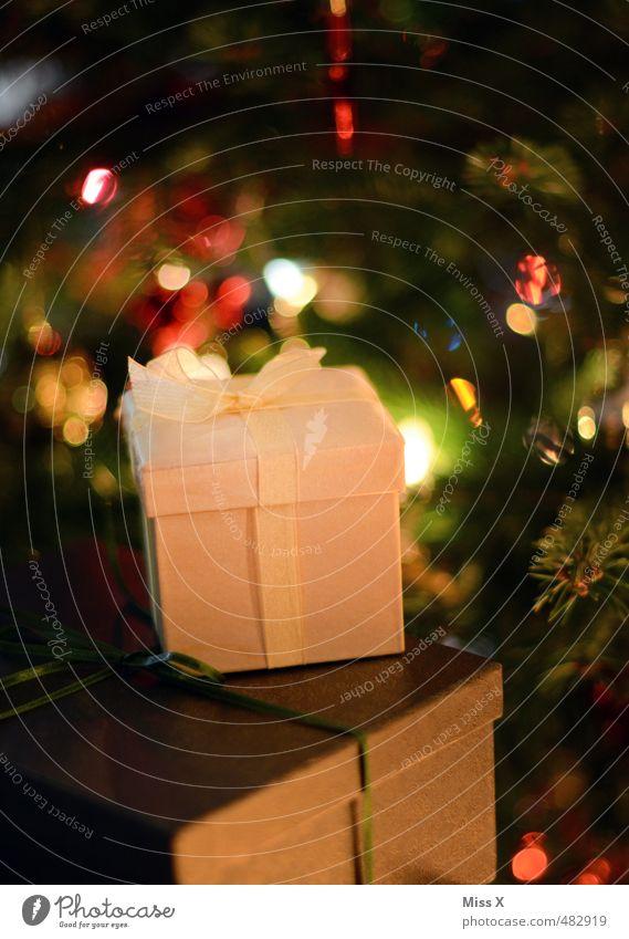Weihnachtsgeschenk Reichtum Feste & Feiern Weihnachten & Advent leuchten glänzend klein Stimmung Glück Vorfreude Geschenk schenken Geschenkband Weihnachtsbaum