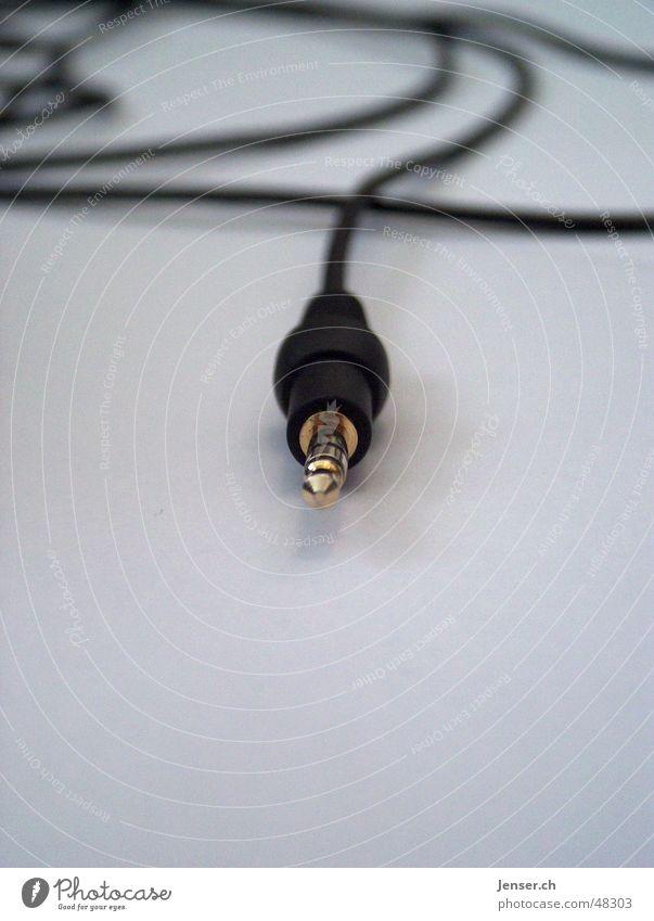 Stecker schwarz Musik Technik & Technologie Kabel zentral Verbundenheit Stecker