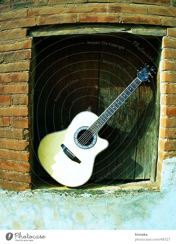 Guitarre Wand Musik Mauer Mexiko