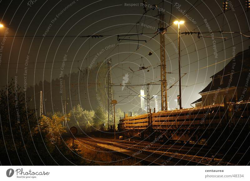 Verlegung neuer Gleise Nacht Eisenbahn Bahnhof Licht Arbeit & Erwerbstätigkeit Landkreis Osnabrück ...