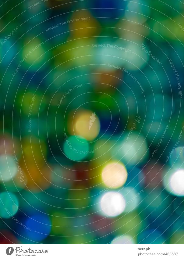 Bunt Farbe mehrfarbig spot Kreis erleuchten glänzend point Licht Lightshow Lichtsäule gepunktet weich Hintergrundbild Tapete dotted diffus Strukturen & Formen