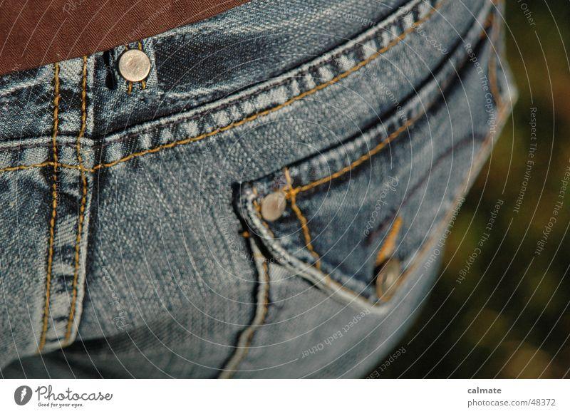 - hosentasche - Jeanshose Gesäß Bodenbelag Jacke Hälfte Naht Niete Lederjacke