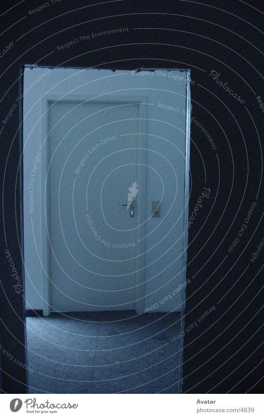 Tür in Tür Stil Licht Rechteck Fototechnik Rahmen blau Schatten