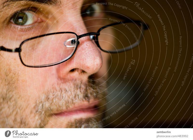 Lutz Mensch Mann ruhig Erwachsene Auge Gefühle maskulin 45-60 Jahre Mund Brille Lippen Kontakt Bart Wachsamkeit direkt Prüfung & Examen