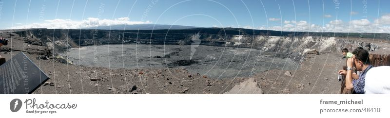Halemaumau Krater groß Panorama (Bildformat) Vulkan Hawaii Schwefel Vulkankrater