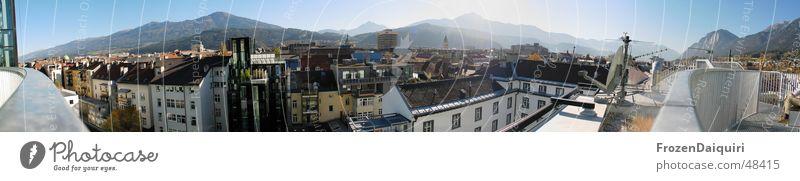 Innsbruck Südpanorama Himmel Sonne Stadt Erholung Berge u. Gebirge groß Dach Sonnenbad Panorama (Bildformat) Süden Bundesland Tirol Österreich
