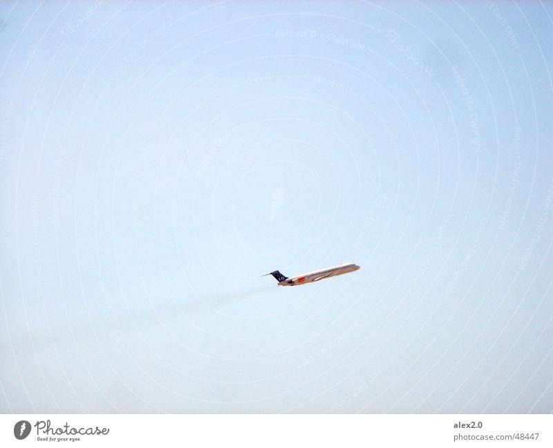Mal wieder richtig Gas geben Himmel blau Flugzeug Flugzeugstart