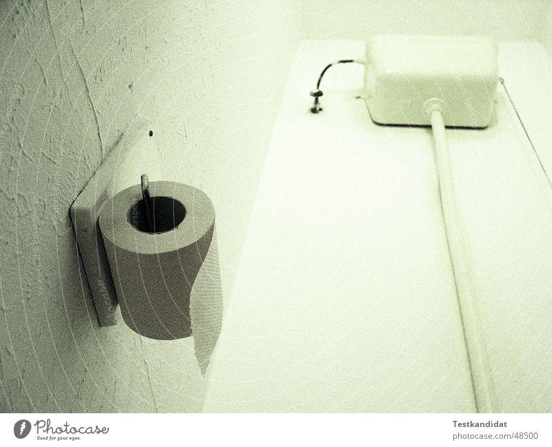 Toilette Toilettenspülung grün Kunstlicht Froschperspektive Wohngemeinschaft Toilettenpapier wasserkasten Kasten Röhren