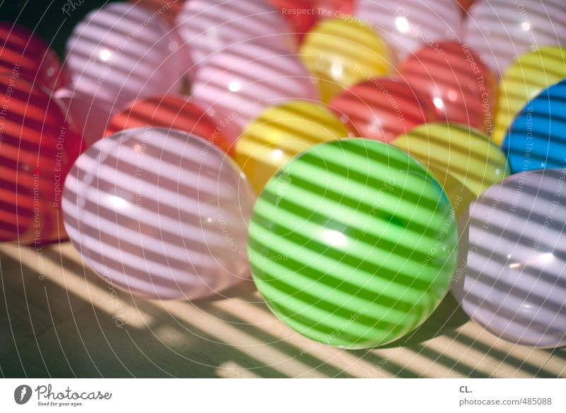 rund, bunt und gestreift Farbe Freude Spielen Feste & Feiern Party Freizeit & Hobby Wohnung Raum Häusliches Leben Geburtstag Dekoration & Verzierung