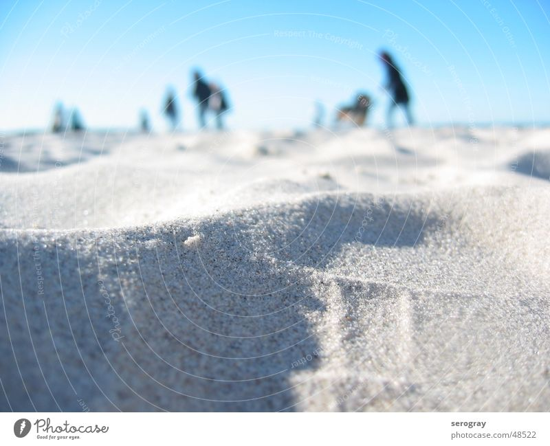 Tag am Meer Mensch Himmel Sand