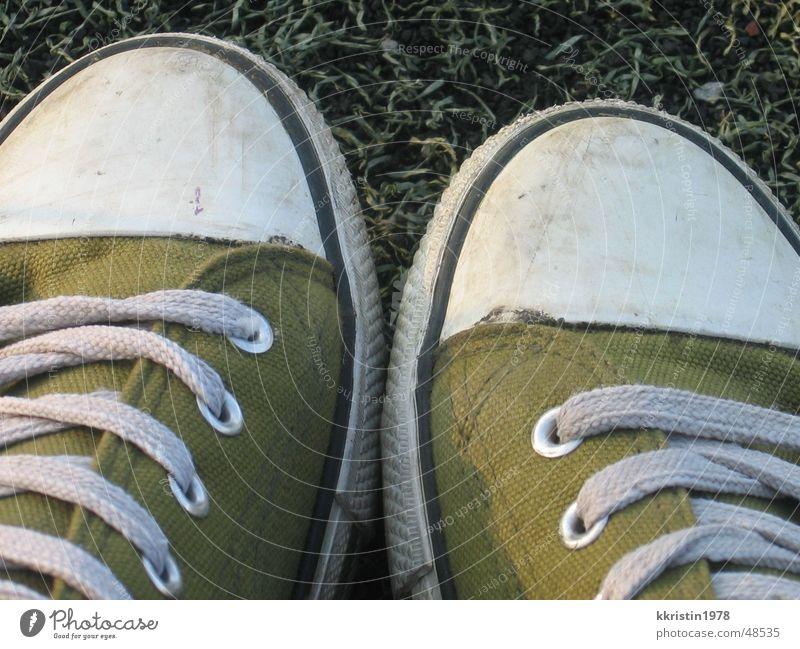 Olis Schuhwerk grün Fuß Schuhe Chucks Turnschuh