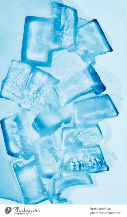 glacial blau kalt Eis Coolness Frost Schnellzug Würfel Eiskristall Eiswürfel