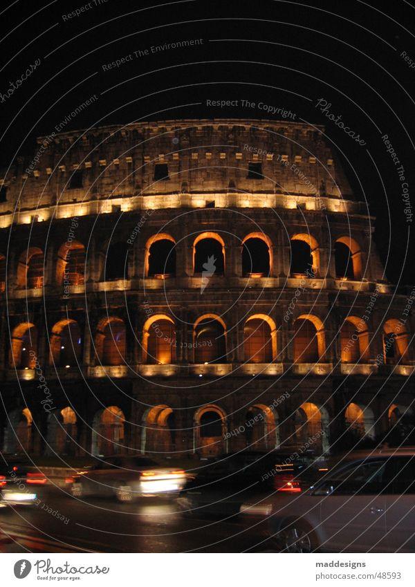 Rom Kolosseum Nacht Europa Italien historisch Langzeitbelichtung Geschwindigkeit Außenaufnahme alt Architektur