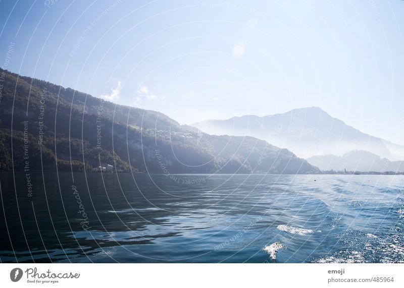 Vierwaldstättersee Himmel Natur blau Landschaft Umwelt See natürlich Wellen Schönes Wetter Wolkenloser Himmel Schweiz Vierwaldstätter See