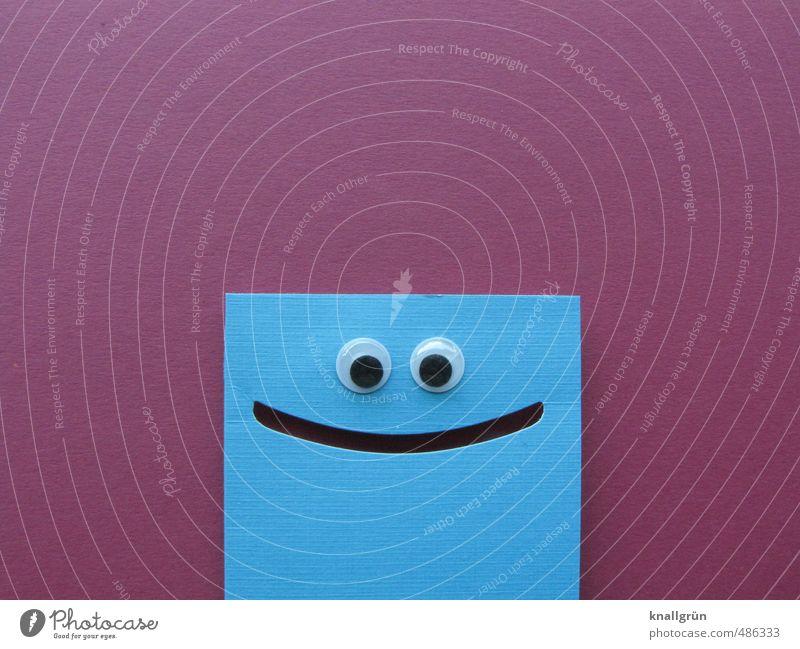 Netter Typ! Kinderaugen Lächeln Blick eckig Freundlichkeit Fröhlichkeit lustig niedlich positiv blau violett Gefühle Freude Optimismus einzigartig Kreativität