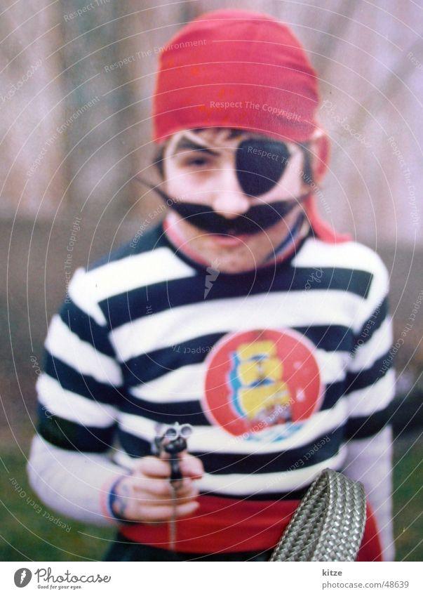 Pirat Kind Karneval Pirat Captain Hook Hände hoch