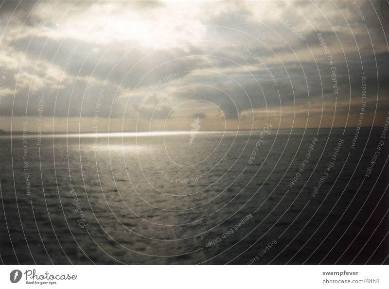 Ärmelkanal Himmel Sonne Meer Beleuchtung Frankreich England Bretagne Überfahrt Dover Calais Ärmelkanal