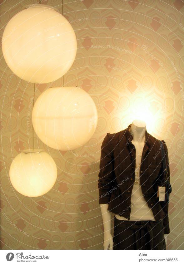 Modepuppe Bekleidung Stil Lampe Tapete Siebziger Jahre retro Jacke T-Shirt Hose Licht Puppe modern oldy