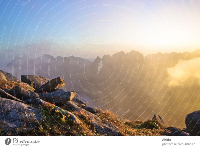 Morgenlicht Wellness Leben harmonisch Wohlgefühl Zufriedenheit Sinnesorgane Erholung ruhig Meditation Duft Ferien & Urlaub & Reisen Abenteuer Landschaft Wolken