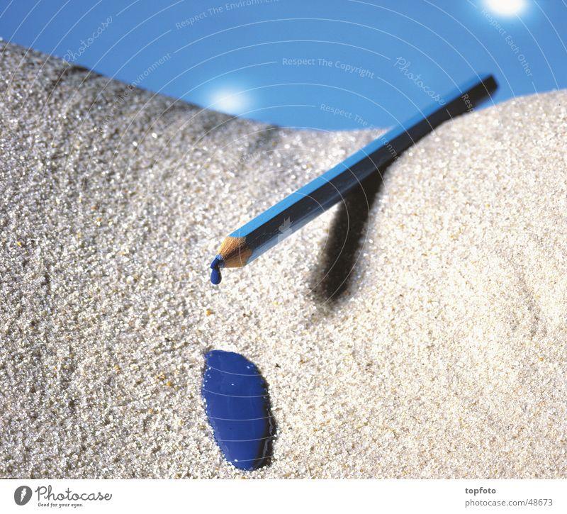 Buntstift blau außergewöhnlich Wüste Werkstatt Farbstift