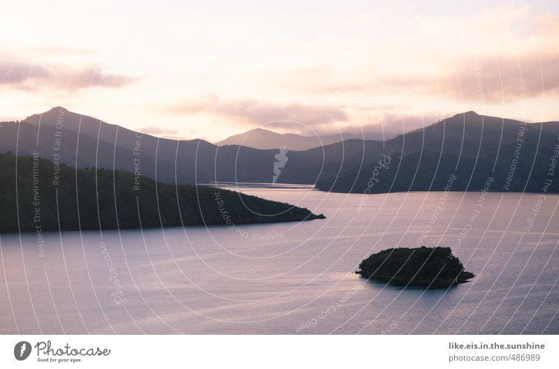 reisen erweitert den horizont 2 Ferien & Urlaub & Reisen Ferne Freiheit Sommerurlaub Wellen Berge u. Gebirge Umwelt Natur Landschaft Horizont Sonnenlicht