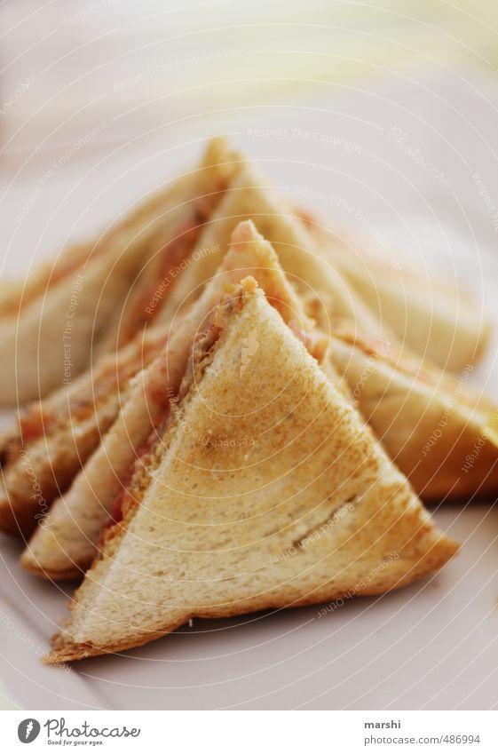 Tuna Toast Lebensmittel Brot Ernährung Essen Fingerfood braun Toastbrot getoastet Snack Thunfisch belegt Farbfoto Detailaufnahme