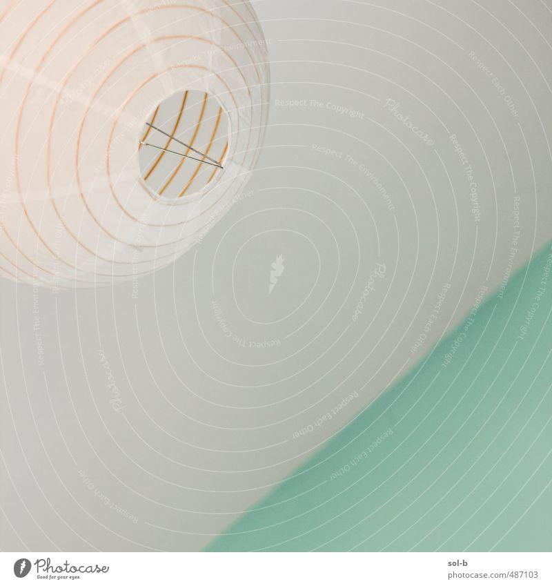 grün Erholung Wand Innenarchitektur Lampe Raum Lifestyle Häusliches Leben frisch einfach Neigung türkis diagonal Decke luftig Lampenschirm