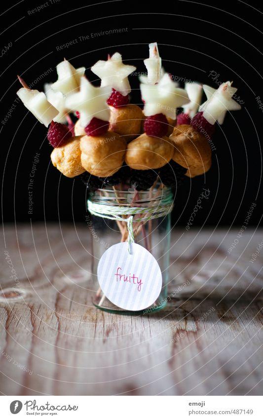 fruchtig Frucht Ernährung süß Stern (Symbol) Süßwaren lecker Beeren Picknick Dessert Vegetarische Ernährung aufgespiesst