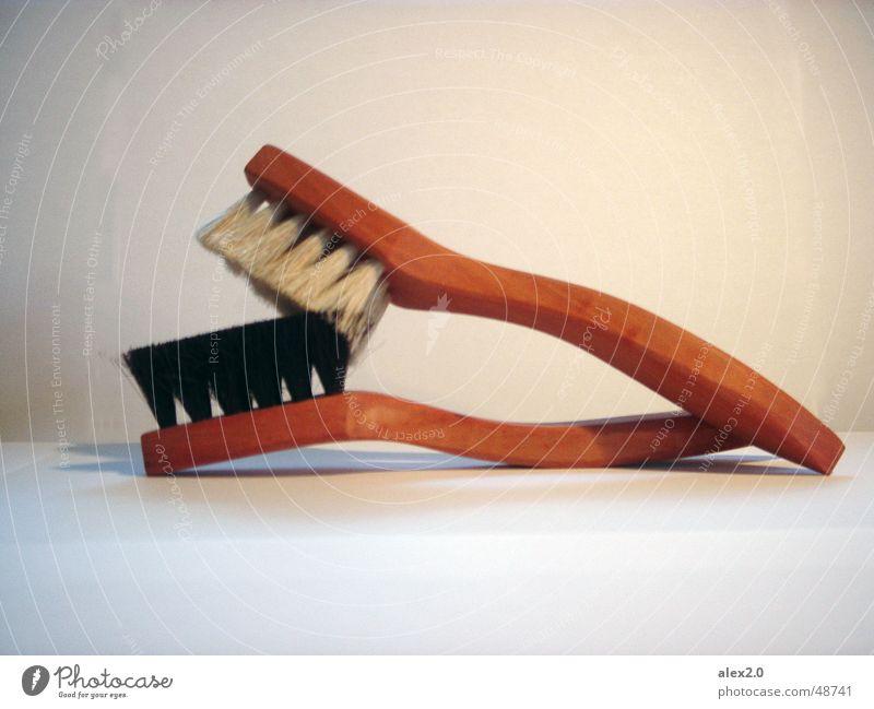 two brushes making love Liebe Sex Schuhputzbürste Schuhputzservice shoe brush shoe shine Bürste er und sie he and her ella y ello paarweise zusammengehörig