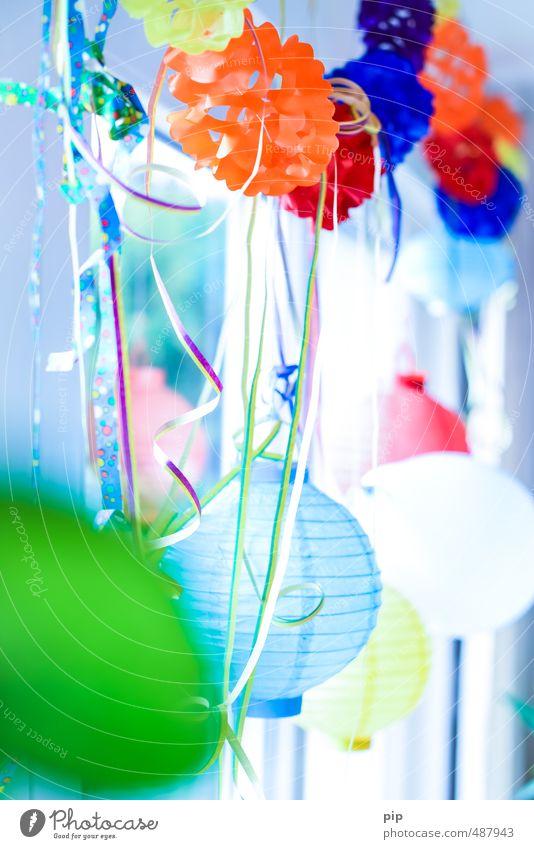 stimmungsmacher Party Feste & Feiern Geburtstag Lametta Lampion Girlande Dekoration & Verzierung blau orange rosa Kitsch Partystimmung Partyraum Stimmung