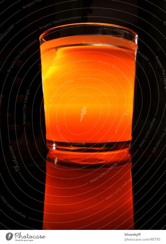candle light dunkel Wärme Stimmung orange Glas modern Kerze Romantik Spiegel harmonisch