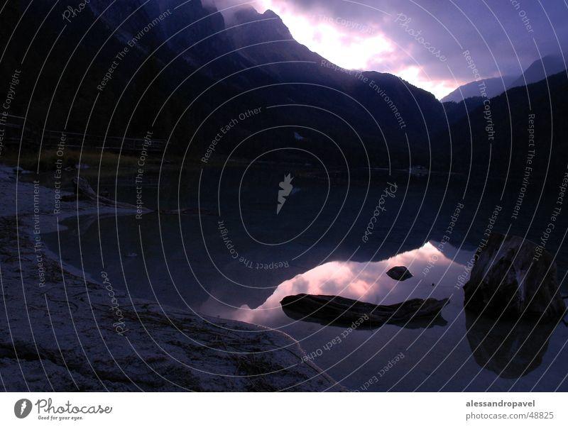 Blue morning morgens an see Morgendämmerung Antholzer See Italien Langzeitbelichtung mit nikon d70