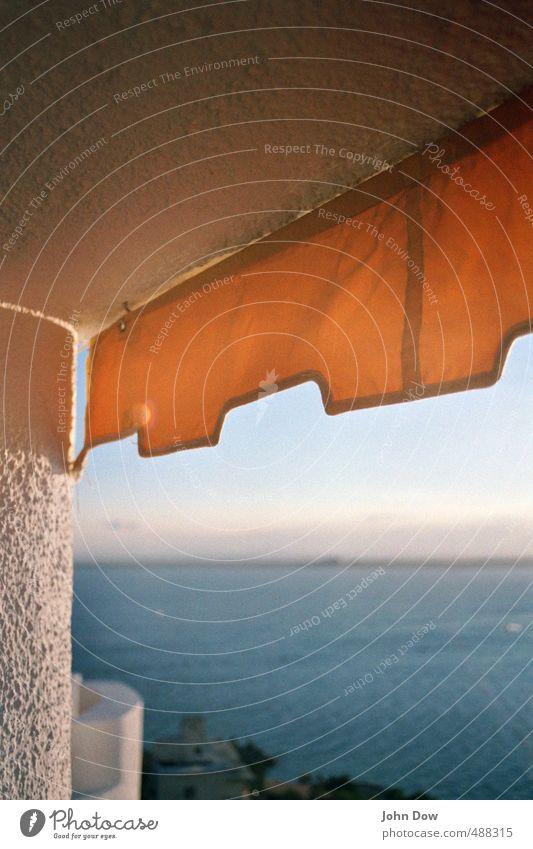 sommersonnensatt Ferien & Urlaub & Reisen Abenteuer Ferne Sommer Sommerurlaub Sonne Sonnenbad Meer Horizont Schönes Wetter Küste Haus frei Wärme gelb Sehnsucht