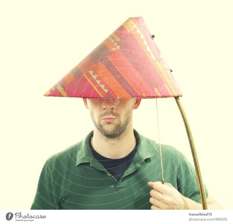 glow.head Mensch Jugendliche Mann Erholung Junger Mann ruhig Freude 18-30 Jahre Erwachsene Glück Lampe maskulin leuchten lernen erleuchten Krankheit
