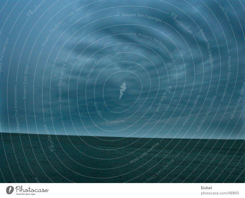 Watthimmel Natur Himmel ruhig Einsamkeit Ferne Deutschland Horizont Nordsee Wattenmeer Ebbe