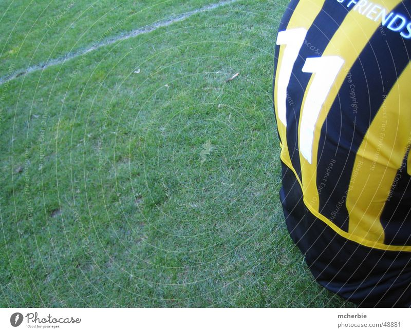 elf freunde schwarz gelb Gras Fußball Rücken Rasen Trikot 11 Symbole & Metaphern Rückennummern