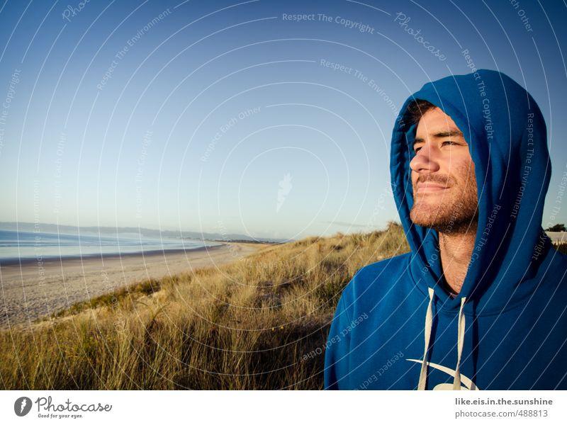 tag am meer Natur Jugendliche Mann Ferien & Urlaub & Reisen Meer Erholung Strand Junger Mann 18-30 Jahre Gesicht Erwachsene Leben Freiheit Glück Sand maskulin