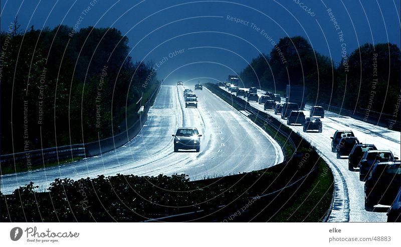 verdammt voll Sonne Ferien & Urlaub & Reisen PKW Regen Straßenverkehr Verkehr fahren Autobahn Verkehrsstau Fahrbahn Autofahrer