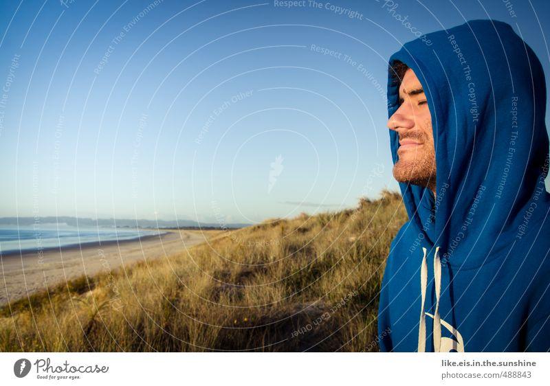 mmmmmmmh* tag am meer 3 Natur Jugendliche Ferien & Urlaub & Reisen Mann Sommer Meer Erholung Landschaft ruhig Strand Ferne Junger Mann Gesicht Erwachsene Leben