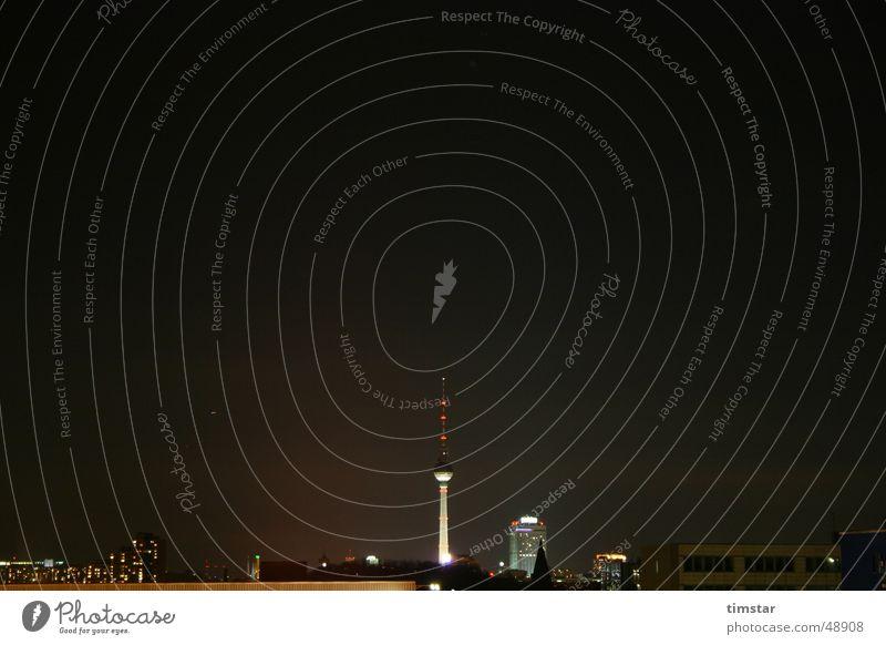 Berlin bei Nacht Skyline Berliner Fernsehturm