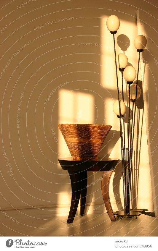 Ambiente Lampe Licht Topf Tisch Raum Schatten
