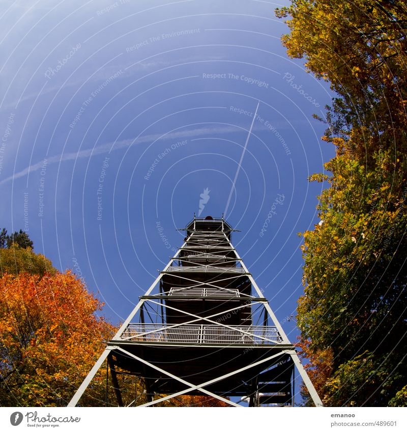 Rosskopfturm Himmel Natur Ferien & Urlaub & Reisen alt Baum Landschaft Wald Berge u. Gebirge Herbst Architektur Luft Park Treppe Tourismus wandern hoch