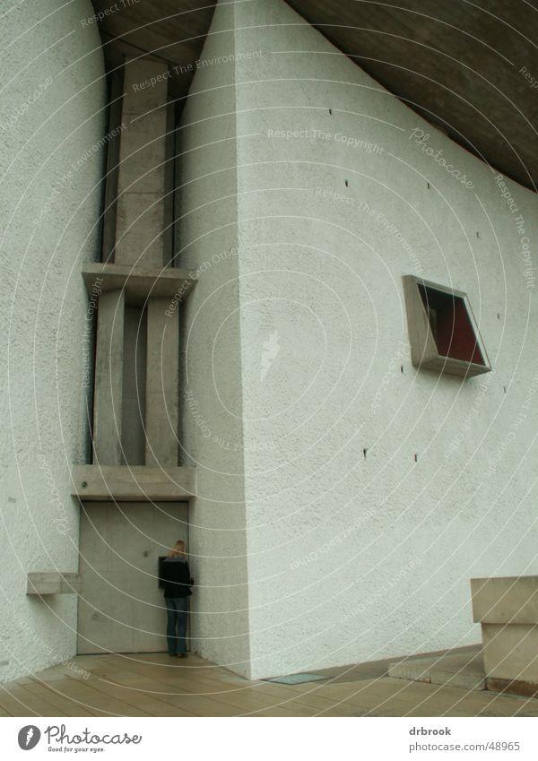 Wallfahrtskirche Notre Dame du Haut Frankreich Eingang wallfahrtskirche notre-dame-du-haut ronchamp le corbusier 1950 classiker Tür Religion & Glaube