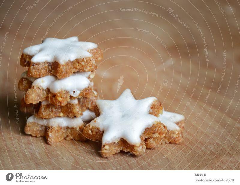 Zimtsterne Lebensmittel Teigwaren Backwaren Süßwaren Ernährung lecker süß Plätzchen Weihnachtsgebäck Stern (Symbol) Stapel Zuckerguß Weihnachten & Advent