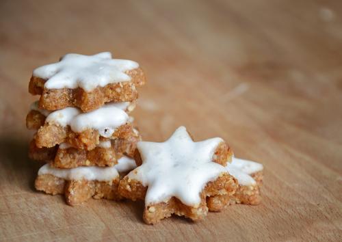 Zimtsterne Weihnachten & Advent Lebensmittel Ernährung Kochen & Garen & Backen süß Stern (Symbol) lecker Süßwaren Backwaren Stapel Teigwaren Plätzchen