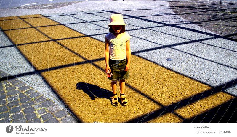 Orange Sun Kind Platz Mütze Kopfsteinpflaster frech